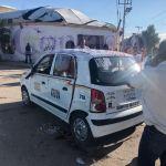Choque y volcadura por colonia México; hay tres heridos