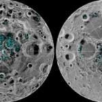 Confirman la existencia de hielo en la superficie de los polos de la Luna