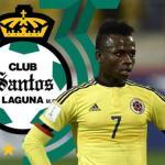 El colombiano Déinner Quiñones firma con el Santos Laguna