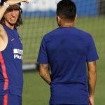 Filipe Luis, presente en la vuelta a los entrenamientos del Atlético