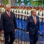 El presidente cubano Díaz-Canel se reúne con el secretario general de ONU