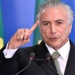 """Temer felicita a Bolsonaro y confía en que gobernará con """"paz y armonía"""""""