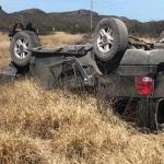 Terrible volcadura deja dos muertos, hombre y mujer, y tres lesionados, todos de Cuencamé