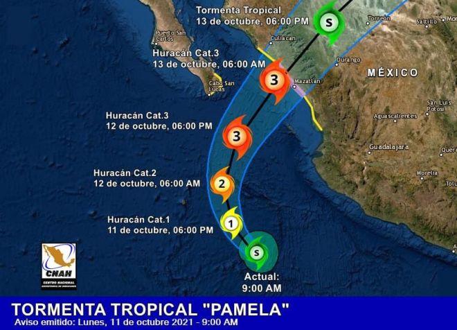 """Advierten del peligro para Durango por huracán """"Pamela"""" – Contacto Hoy"""