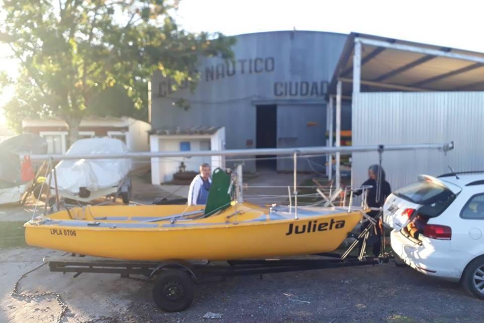 Visita en el Puerto Local y se suma al Club Náutico de General Lavalle