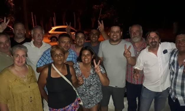 EL PRESIDENTE DEL PJ DE GENERAL LAVALLE, FERNANDO LLERA… JUNTO A REFERENTES BARRIALES
