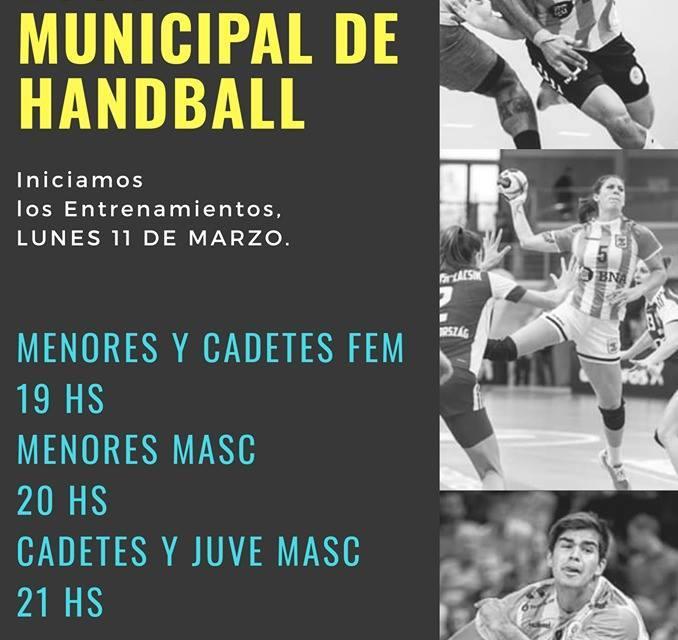 Iniciaron los entrenamientos en la Escuela Municipal de Handball de GRAL.LAVALLE
