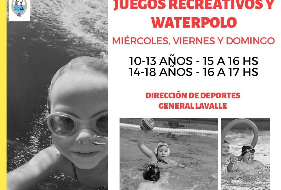 Juegos Recreativos, Waterpolo y Natación para Adultos en el Natatorio Sebastián Podazza