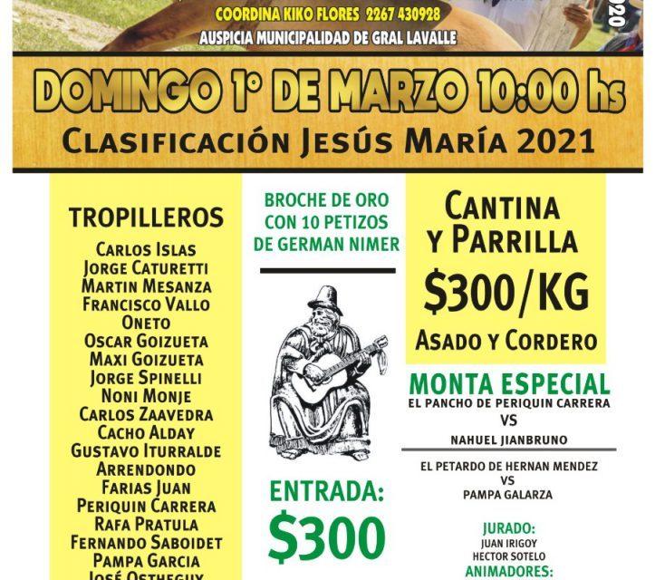 El domingo 1° de marzo será la Gran Jineteada de la Fiesta Nacional Semana de Santos Vega