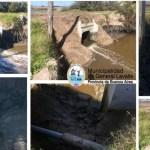 """Obras públicas Se realizaron  tareas de mantenimiento en el terraplén de la zona """"El Saladero"""""""