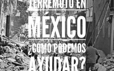 Terremoto en México. Cómo podemos ayudar?