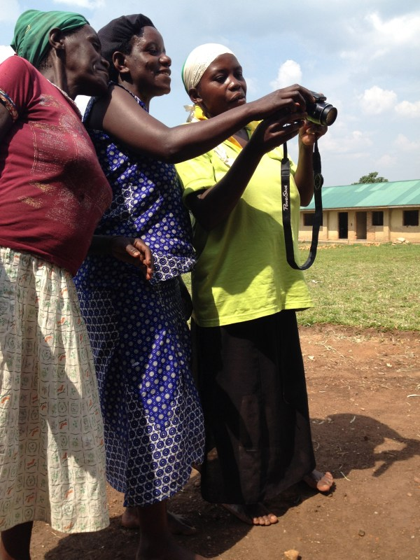 I gave my camera to these women to take pictures of their own kids.