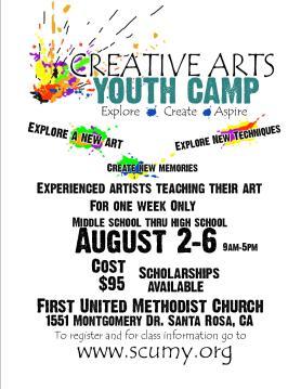 Creative Art Camp Poster