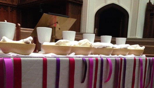 Missed Connections Communion Table