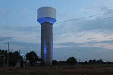 watr tower blue