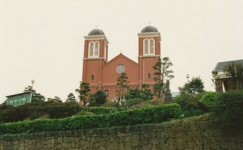 Urakami Cathedral in Nagasaki, where we attended the Easter Vigil (photo by Connie Rossini).