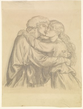 Dante_Gabriel_Rossetti_-_The_Blessed_Damozel_-_Study_of_two_Lovers_embracing_-_Google_Art_Project