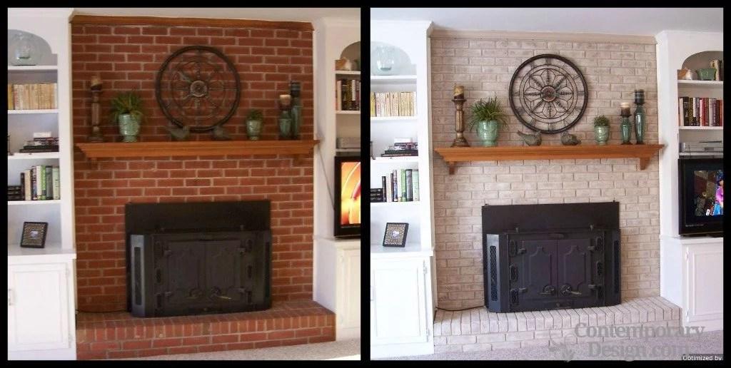 Painting brick fireplace ideas on Brick Painting Ideas  id=49679