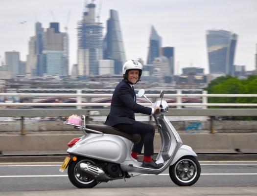 Richard Wilson on Waterloo Bridge