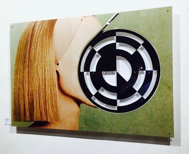 Artwork collage plexiglass cake