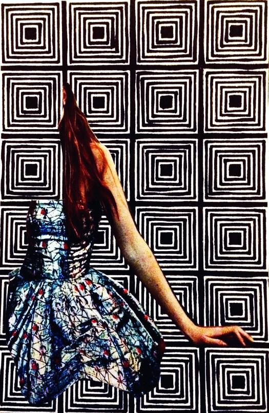 artwork pattern collage cake