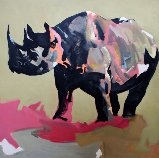Abstract painting wildlife