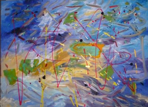 Lightning  Bolt. Acrylic on Canvas