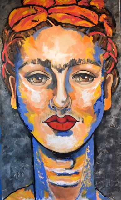 Frida. Mixed Media on Canvas