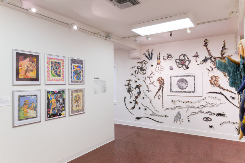 Cock, Paper, Scissors (Installation view) (2016). Image courtesy of ONE National Gay & Lesbian Archives at the USC Libraries. Photo: Ian Byers-Gamber.