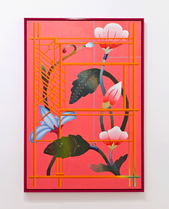 Orion Martin, Career in Magic (2015). Oil on canvas, 51 x 35 inches. Image courtesy of the artist and Favorite Goods.