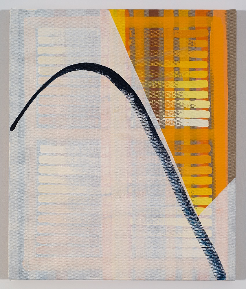 Jacob Melchi, Trajectory Four (2015). Oil on Belgian linen, 25 x 21 inches. Image courtesy of the artist and Ochi Projects.