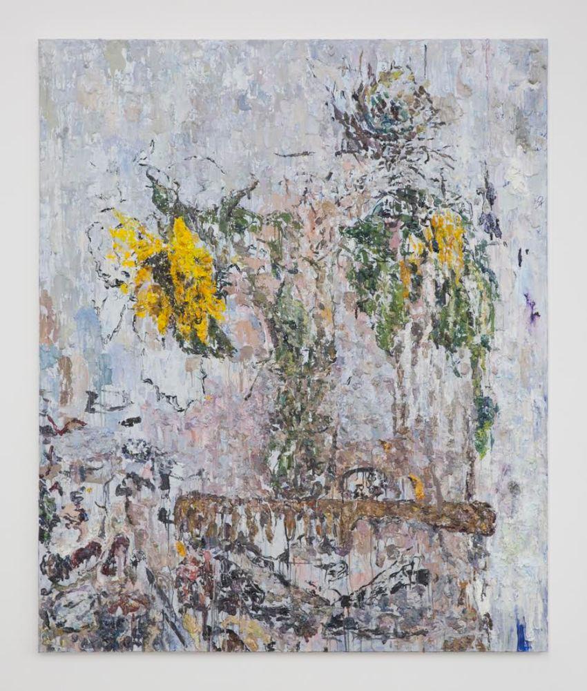 Andy Robert, Sunflowers. (2016). Image courtesy of Night Gallery. Photo: Nik Massey.