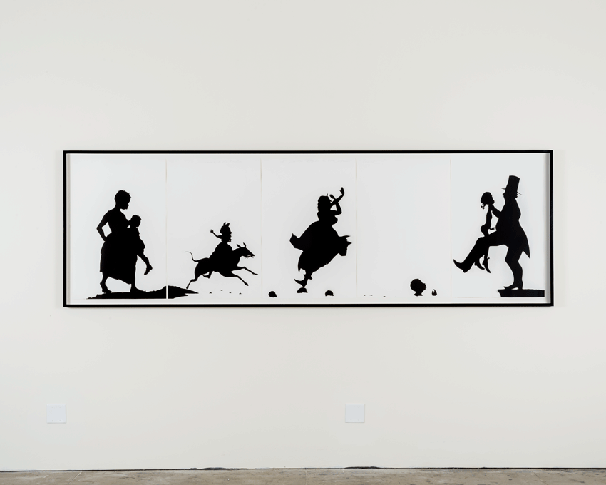 Kara Walker, The Means to an End...A Shadow Drama in Five Acts (1995). Etching, acquatint on paper. Image courtesy of the Museum of Contemporary Art, Los Angeles. Gift of Sharon and Thurston Twigg-Smith. Photo: Justin Lubliner.