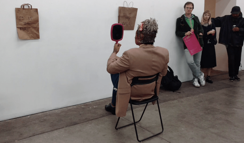 Rafa Esparza, i just came to do brujeria on the artworld (2016) (performance still). Image courtesy of the artist.