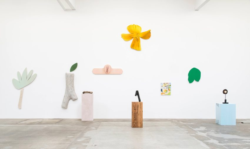 Nate Lowman, TBT (2016). Mixed media installation, dimensions variable. Image courtesy of the artist and Maccarone New York and Los Angeles. Photo: Joshua White.