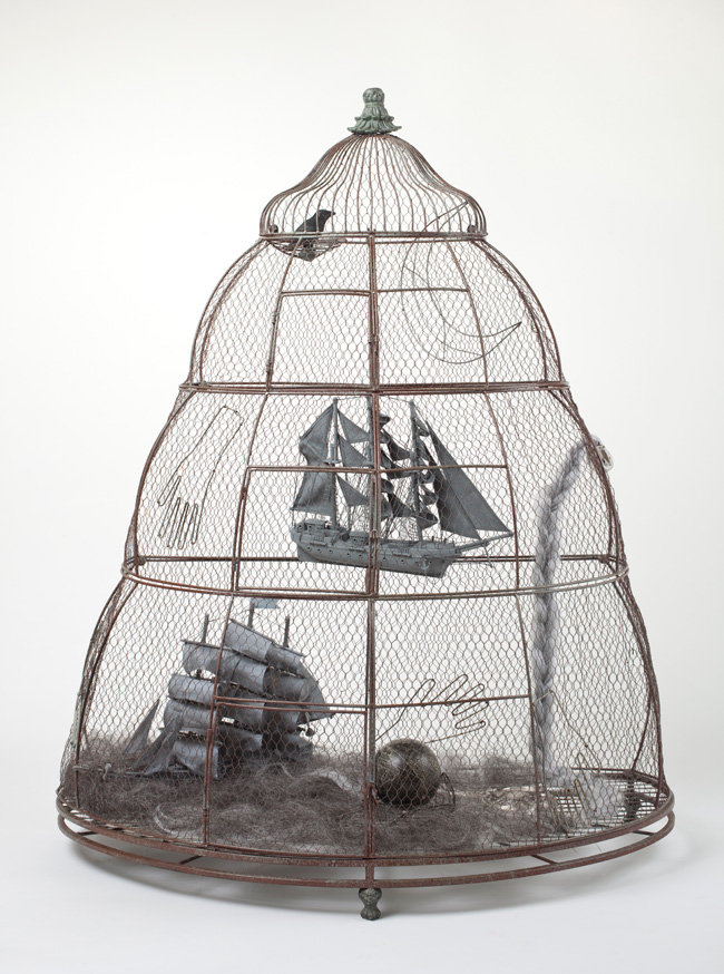 Betye Saar, The Destiny of Latitude & Longitude (2010). Mixed media assemblage, 54 x 43 x 20.5 inches. Image courtesy of the artist and Roberts & Tilton, Culver City, CA.