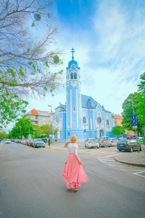 Linda at The Blue Church, Bratislava, Slovakia
