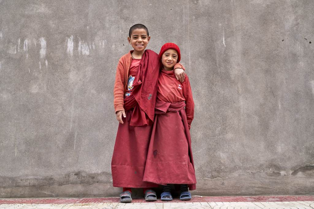 Young Buddhist Monks in Ladakh