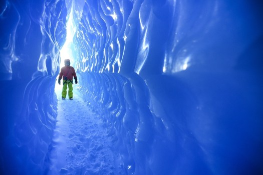 Exploring ice tunnels