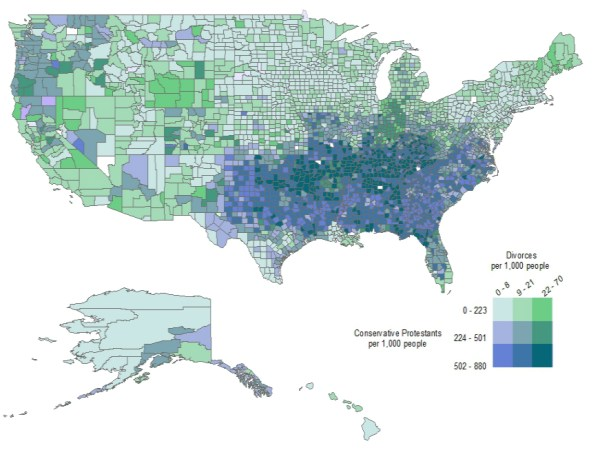 Religious Map Of The Us.A Little Religion Is Terrible For Marriage Here S Why National Review