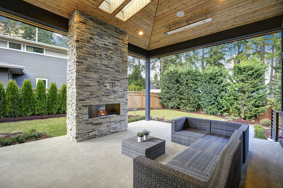 Outdoor Living Spaces UK | Contemporary Log Living on Garden Living Space id=67341