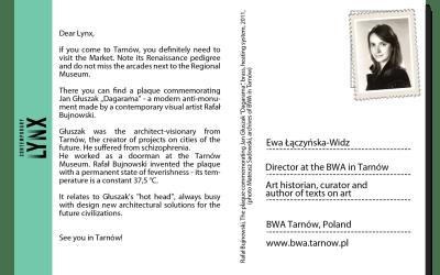 PostcART: EWA ŁĄCZYŃSKA-WIDZ, DIRECTOR AT THE BWA GALLERY IN TARNÓW