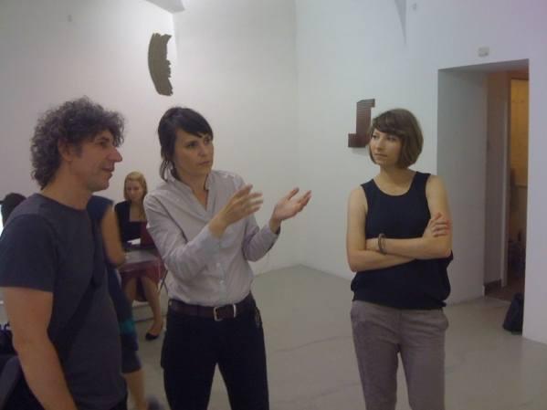 Barnabas Bencik, former Director of Ludwig Museum in Budapest, Justyna Kowalska from BWA Warszawa, Agnieszka Kalinowska and Małgorzata Szymankiewicz, photo courtesy BWA Warszawa