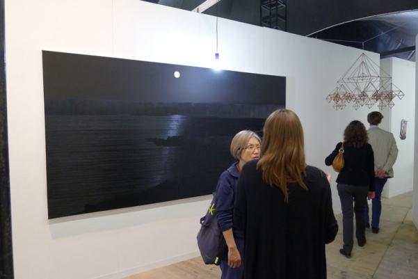 Rafał Bujnowski, Untitled, 2013, oil on canvas, 150 x 300 cm, Raster, booth 0/10/10, photo Andrzej Szczepaniak for Contemporary Lynx