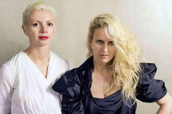 Christina Steinbrecher-Pfandt (left) and Vita Zaman (right) artist directors, VIENNAFAIR The New Contemporary. Photographer: Markus Kloiber
