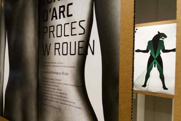 Display view, Enfant terrible. New Polish Poster, BOZAR Center for Fine Arts, Brussels, photo Slawek Kozdras, courtesy of organisers