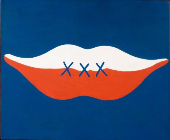 "Jerzy ""Jurry"" Zieliński,Usmiech Czyli ""Trzydziesci"" – lac. ""Cha Cha Cha"", (The Smile, or Thirty Years, Ha, Ha, Ha), 1974 Oil on canvas, 58.5 x 70 cm. collection of Polish Modern Art Foundation, Warsaw image: courtesy of Galeria Zderzak, Krakow"