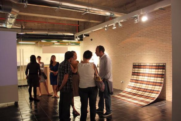An opening of Young Polsih Artists on tour in Espacio Trapézio, Madrid, 2011, photo from CCA Laznia archive
