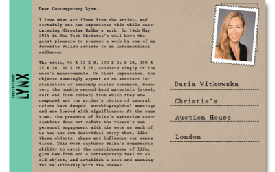 PostcART: DARIA WITKOWSKA – CHRISTIE'S AUCTION HOUSE