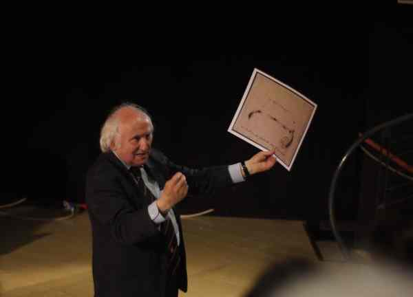 Richard Demarco, Tadeusz Kantor in Teatro Junghans, Venice, 2015, photo Contemporary Lynx